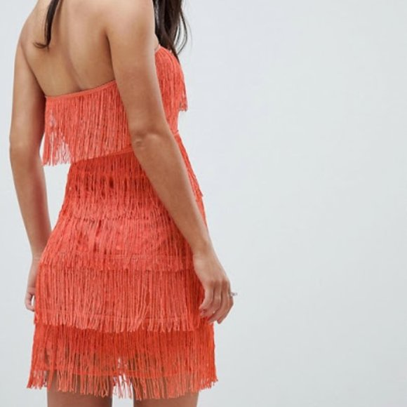 River Island New Womens Petite Button Bandeau Mini Dress in Rust